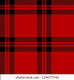 Red and black tartan plaid Scottish seamless pattern.Texture from tartan, plaid, tablecloths, clothes, shirts, dresses, paper, bedding, blankets and other textile products.