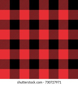Red and Black Tartan plaid seamless abstract checkered pattern background for Christmas , Wedding, Birthday design cards/ Flat style vector illustration.