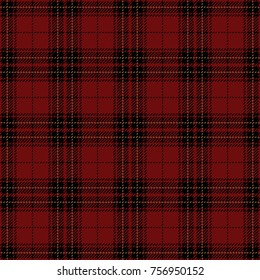 Red and Black Tartan Plaid. Traditional Scottish Woven Seamless Pattern