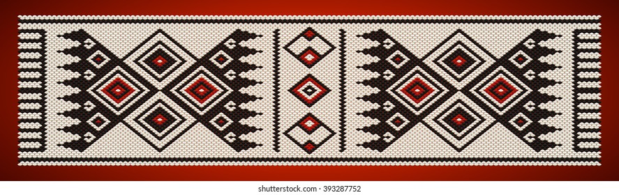 Red and Black Theme Sadu Weaving Belt