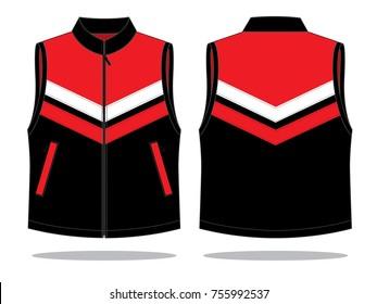 Red / Black vest design