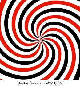 Red, black and white spiral  background. vector illustration.