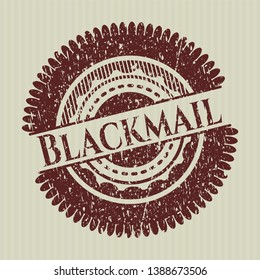 Red Blackmail distress rubber stamp