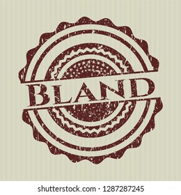 Red Bland distressed rubber grunge stamp