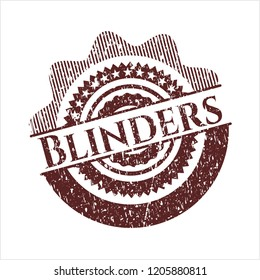 Red Blinders distress rubber grunge texture seal