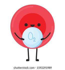 Red blood cell character design. Red blood cell vector. free space for text. Water symbol vector.