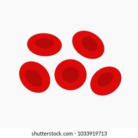 Red blood cells, erythrocytes. Vector illustration