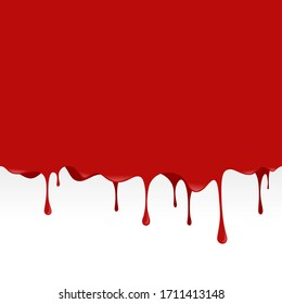 Red blood liquid dripping seamless background vector.