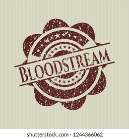 Red Bloodstream distressed grunge style stamp