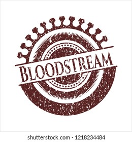 Red Bloodstream rubber seal with grunge texture