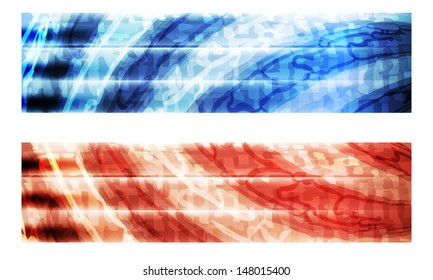 red and blue abstract banner