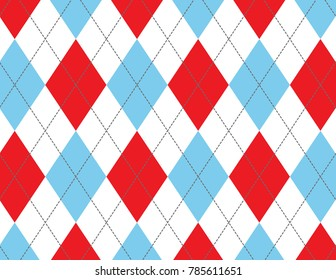 Red and Blue Argyle Background