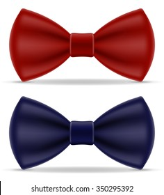 red and blue bow tie for men a suit vector illustration isolated on white background