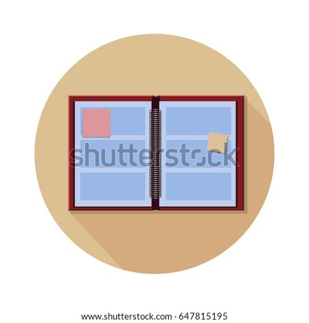 red blue daily journal planner icon stock vector royalty free