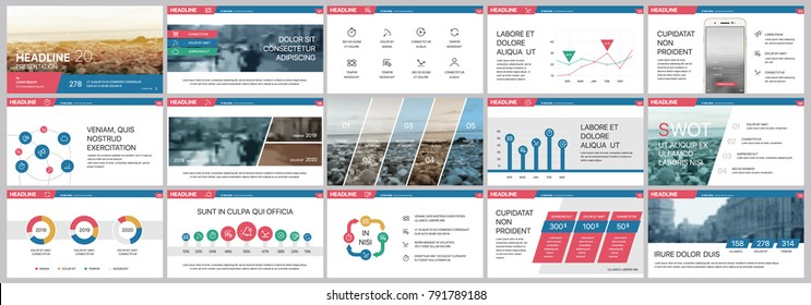 Red and Blue elements for infographics on a white background. Presentation templates. Use in presentation, flyer and leaflet, corporate report, marketing, advertising, annual report, banner.
