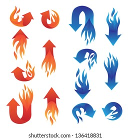 Red and Blue Fire Arrow Collections