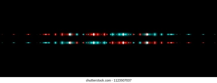 Red And Blue Glowing Neon Lights Line Abstract Banner Wallpaper Background Template. Vector