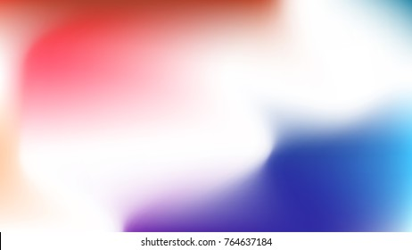 Red and blue gradient web pattern for wallpaper, horizontal and bright. White soft waves for smartphone lockscreen template texture. Vector blurred background, for phone screen.