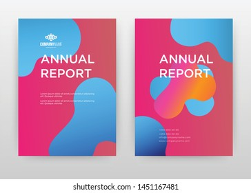Red blue magenta colored design for annual report, brochure, flyer, poster. Liquid blue magenta background vector illustration for flyer, leaflet, poster. Business abstract A4 brochure template.