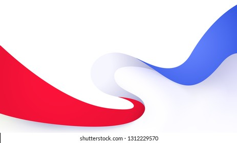 Red blue motion sound wave abstract vector background