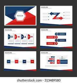 Red and blue Multipurpose Infographic elements and icon presentation flat design set for advertising marketing brochure flyer leaflet