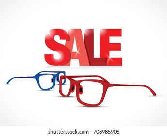 red and blue sale glasses