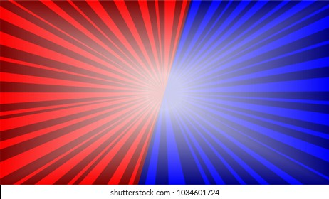 Red Blue Sun Beam