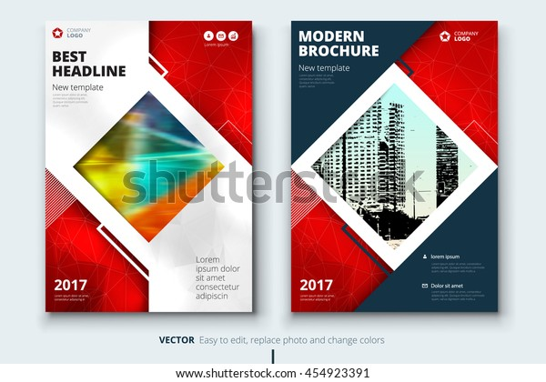 Red Book Cover Design Corporate Business Stock Vector
