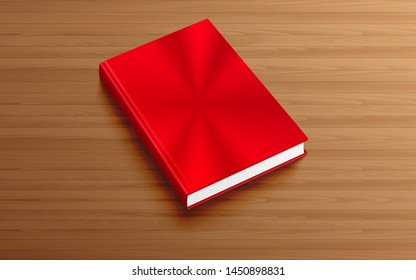 red book on the wooden table