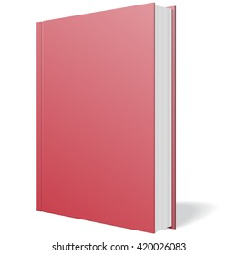 Red book standing vector on white background illustration.
