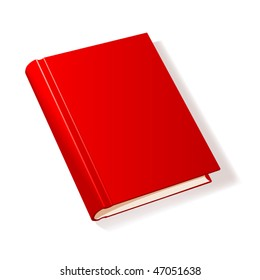 Red book. Vector illustration.