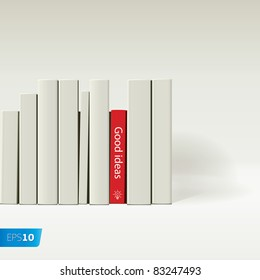 red book vector image