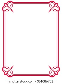 red border images stock photos vectors shutterstock