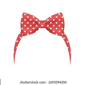 Red bow headband. vector illustration