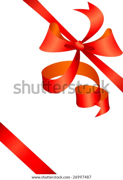 red bow present. Vector illustration