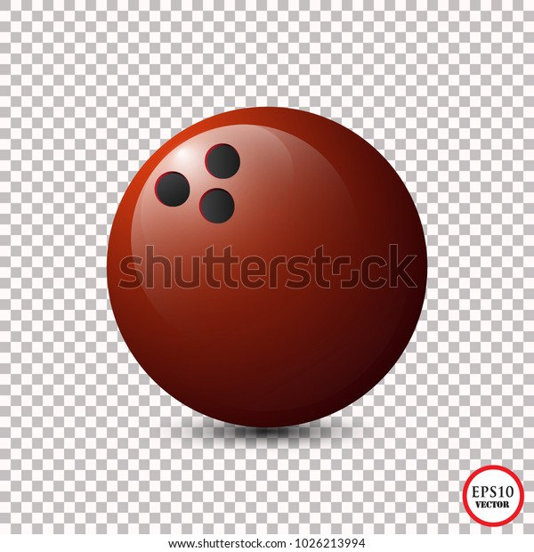 Red Bowling Ball Isolated On Transparent Stock Vector