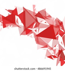 Red Break Mosaic Background, Creative Design Templates