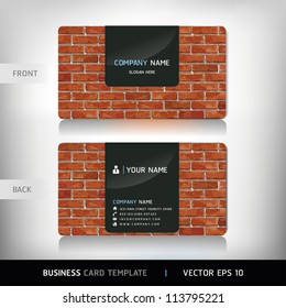 Construction business card images stock photos vectors shutterstock red brick wall business card vector illustration wajeb Images