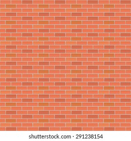Red brick wall, industrial background for your design. Vector illustration.
