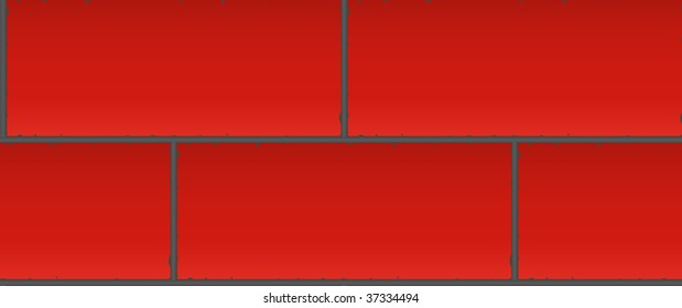 Red brick wall seamless wallpaper illustration background