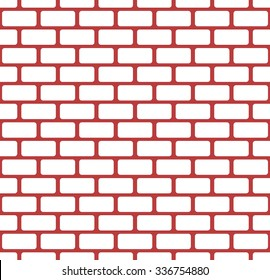 Red brick wall, stonewall seamless pattern