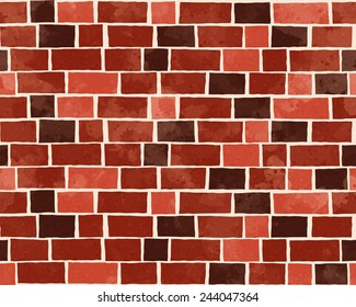 Red brick wall textured pattern background, fashion fabric textures, vector illustration. Design for web and mobile app.