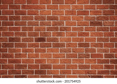 Red brick wall vector background