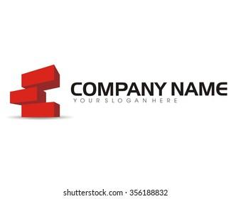 red bricks logo icon vector
