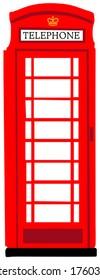 Red British phone booth national symbol of UK