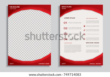 Red Brochure Template Stock Vector Royalty Free 749714083