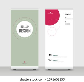 Red brown Abstract Shapes Modern Exhibition Advertising Trend Business Roll Up Banner Stand Poster Brochure flat design template creative concept. Red Roll Up EPS. Presentation Cover