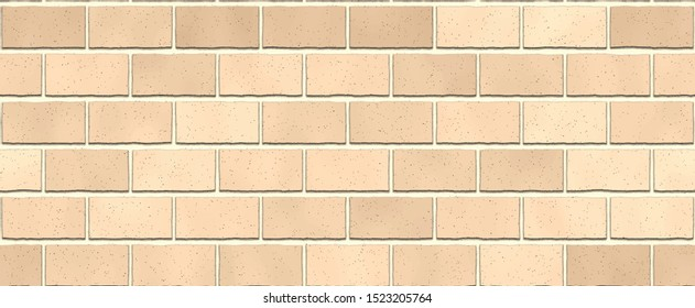 Red brown colors brick wall abstract background. Texture of bricks. Vector wide realistic  illustration. Template design for web banners
