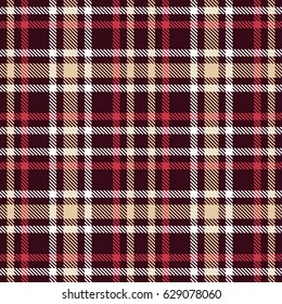 332f7da52 Red and brown tartan seamless vector pattern. Checkered plaid texture.  Geometrical simple square dark
