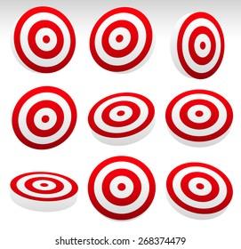 Red Bullseye Target Set